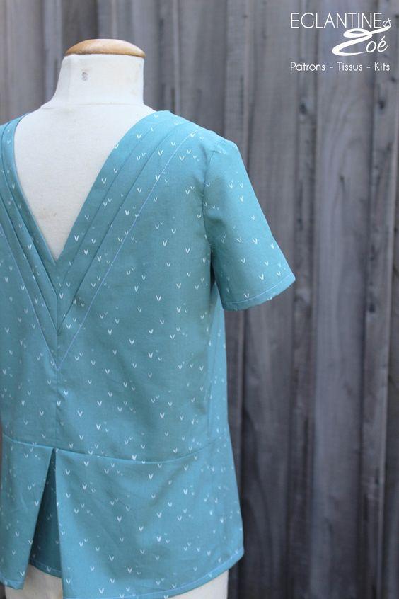 Patron de couture de la blouse et robe Tremplin par Eglantine et Zoé Sewing pattern Tremplin Couture DIY Sewing Eglantine et Zoé