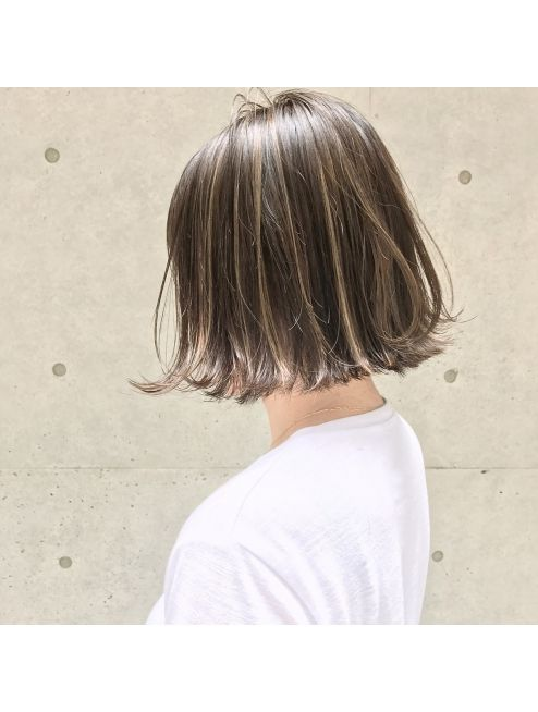 シマ キチジョウジ Shima Kichijoji Shima 望月 切りっぱなしボブ 外国人風ハイライト Short Hair Styles Medium Hair Styles Haircuts Straight Hair
