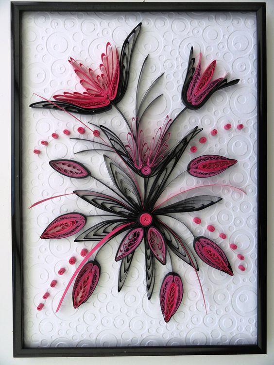Tableau noir et rose quilling pinterest beautiful for Tableau noir et rose