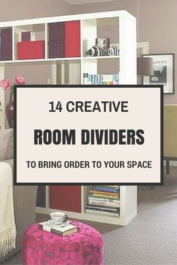 29 Creative Diy Room Dividers For Open: Room Dividers, Studio Apartments And Open Floor On Pinterest