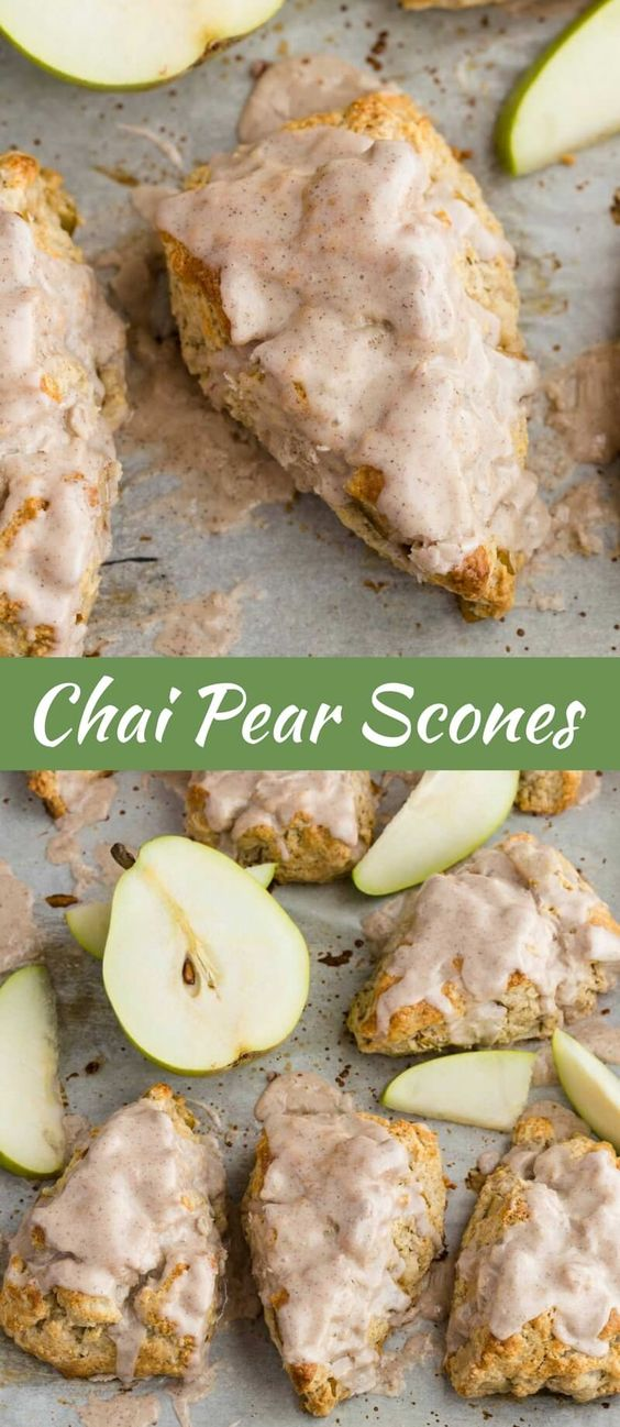 Chai Pear Scones | Easy Recipe | Breakfast | Brunch | Baked by an Introvert  via @introvertbaker