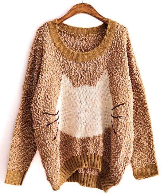 Cat sweater pullover