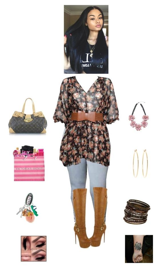 """""""Untitled #392"""" by davionaworley ❤ liked on Polyvore featuring Louis Vuitton, Victoria's Secret, Wallis and Brooks Brothers"""