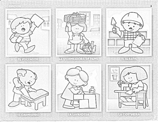 90 Figuritas De Oficios Para Colorear Infantil Oficios Y Profesiones Oficios Y Profeciones Profesiones Para Niños