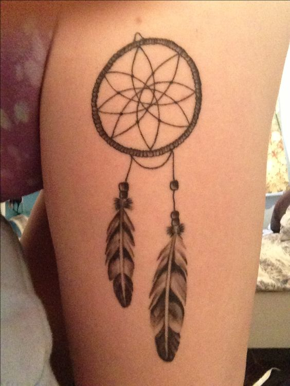 Simple, Dream catcher tattoo and Feathers on Pinterest