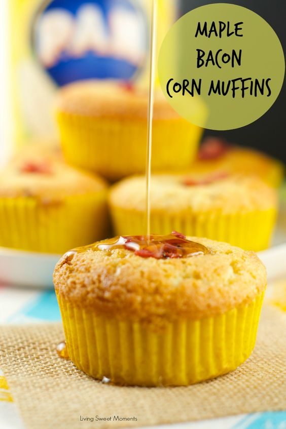 Maple Bacon Corn Muffins - these moist muffins are bursting with ...