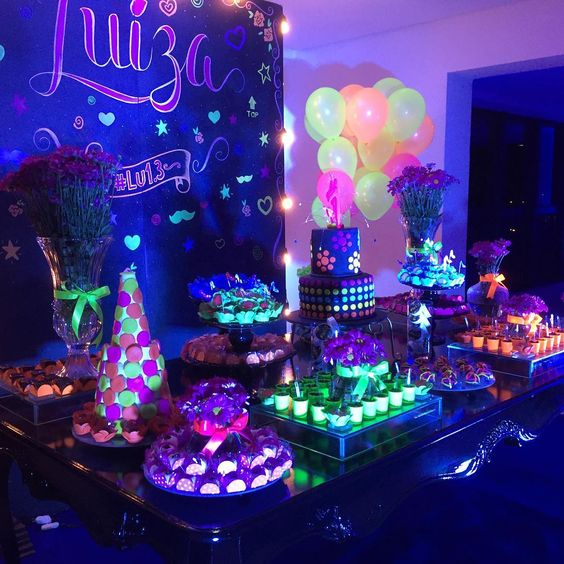 a glow party is one of the best new years eve party theme ideas