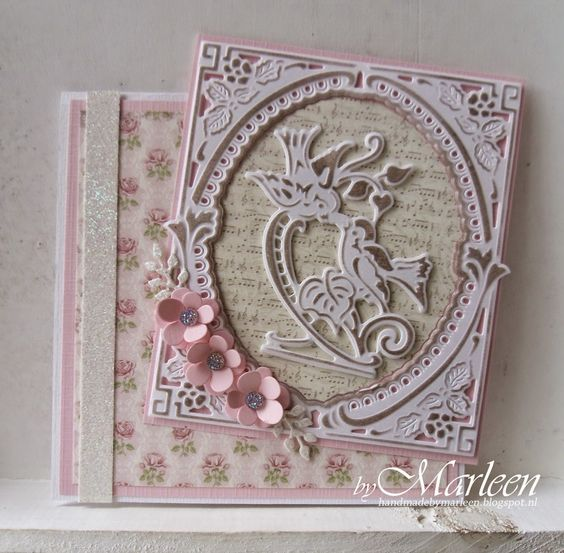 byMarleen: Demonstration cards for birth and with flowers