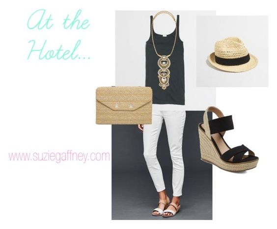 Spring Break - At the Hotel by sgaffney on Polyvore featuring J.Crew, Stella & Dot, whitedenim, stellaanddot, easychic and vacationstyle: