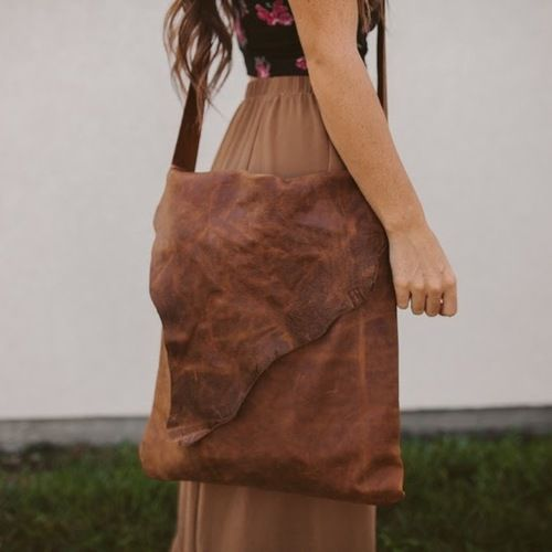 DIY Distressed Remnant Leather Bag Tutorial from Sincerely… | DIY Glory