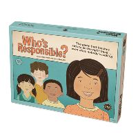 The NEW Who's Responsible? game teaches kids how to make responsible choices...even when nobody's looking. Kids engage in: Learning about responsible actions. Responding to thought-provoking questions Considering important decisions: