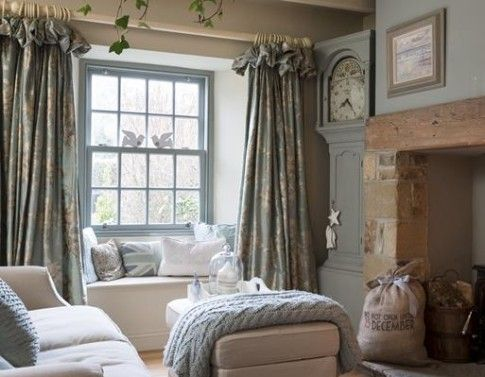 Sumptuous ruffled curtains re-pinned by www.gilroyinteriors.com Breathing  life u0026 colour onto your home! | Living Room | Pinterest | Cottages, Life  color and ...
