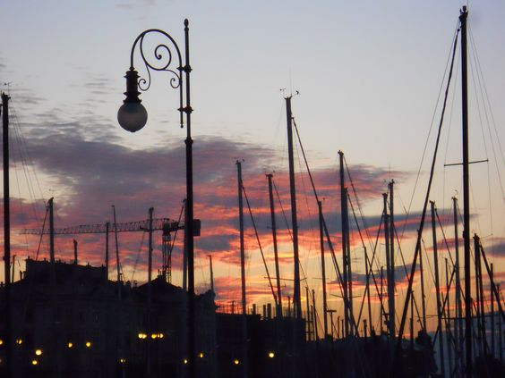 Trieste, Italy at sunset