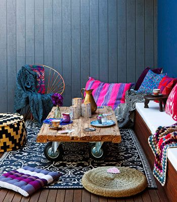 Styled by Erin Michael. Real Living July 2012: Outdoor Winter Rooms - Gypsy Tribal moroccan. (photography: maree homer)