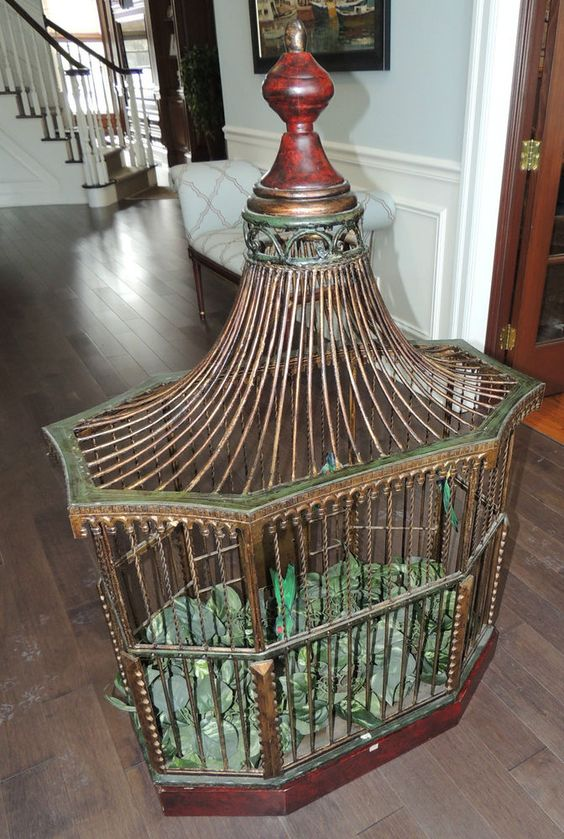 stunning decorative x large antique bird cage antique birdcages pinterest antiques bird. Black Bedroom Furniture Sets. Home Design Ideas
