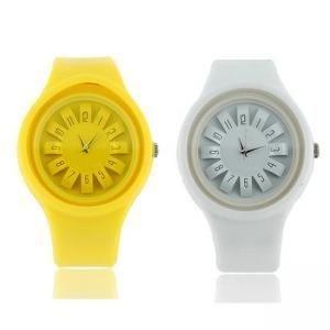 Sunflower runden Edelstahl Kids Frauen Elektronische Armbanduhr (Gelb)