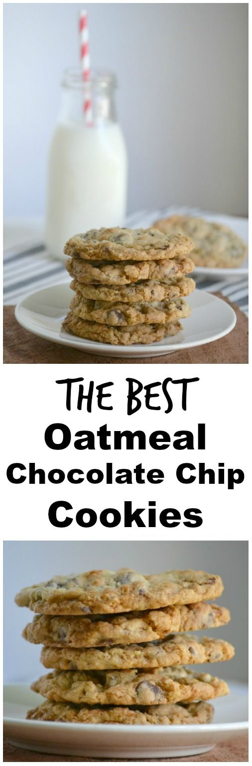 The BEST oatmeal chocolate chip cookies | Recipe