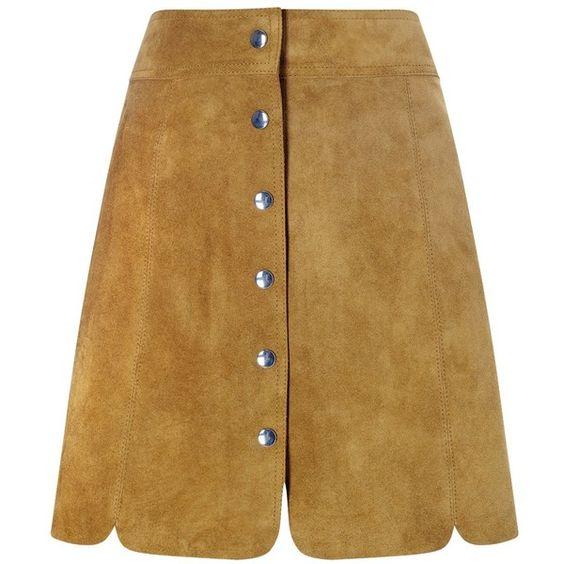 Isabel Marant Étoile Tan Suede Anna Mini Skirt ($180) ❤ liked on Polyvore featuring skirts, mini skirts, a line skirt, tan suede mini skirt, a line mini skirt, short a line skirt and tan suede skirt