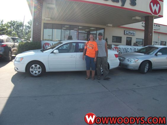 """April Suddith from Dawn, Missouri purchased this #Hyundai #Sonota and wrote, """"Thank you Jeff and Craig for all of your help. You helped turn a bad situation into a good one! Thanks for the patience and understanding!"""" To view similar vehicles and more, go to www.wowwoodys.com today!"""