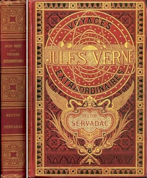 Original Jules Verne book cover from 1800's.