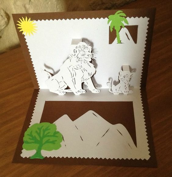 Kirigami le roi lion disney pinterest lion et kirigami for Decoration chambre le roi lion