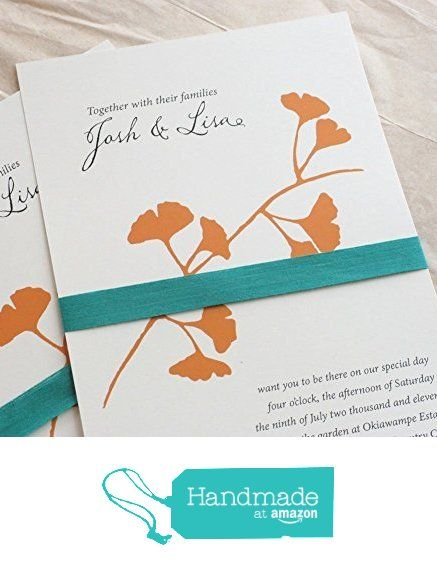 Ginkgo Leaf Wedding Invitations set of 25 from Vreeland Design Co. http://smile.amazon.com/dp/B015KZGRWO/ref=hnd_sw_r_pi_dp_MEInwb14CY21Q #handmadeatamazon