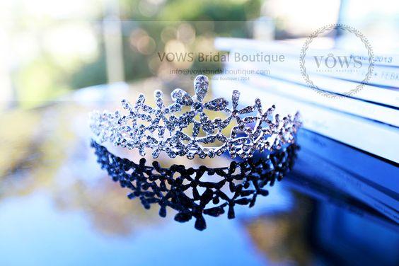 Bridal hair accessory - Rhinestone Flower Crown
