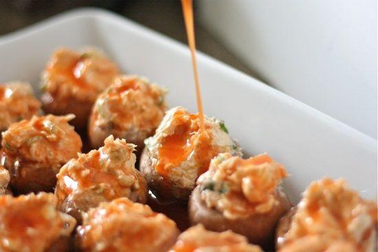enchilada-stuffed mushrooms