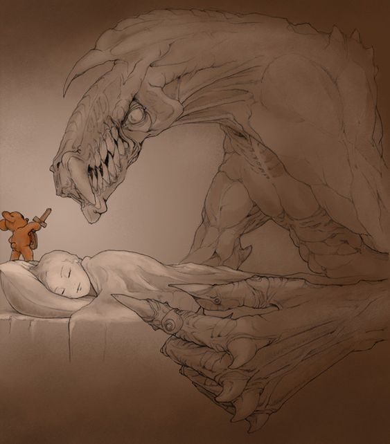Not going to lie, I always imagined my teddy bear and blanket came alive to protect me when I was a kid.