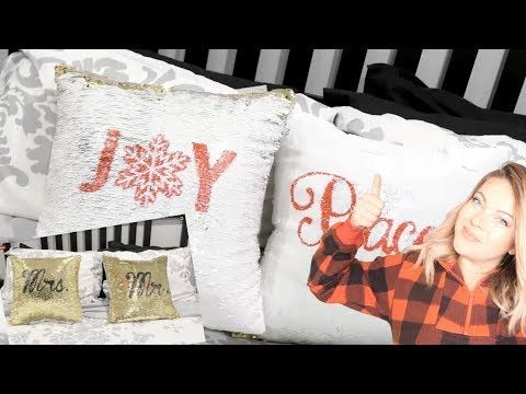 10 diy throw pillow ideas.htm diy stencil 2 sided sequin pillows with the cricut youtube  with  diy stencil 2 sided sequin pillows with