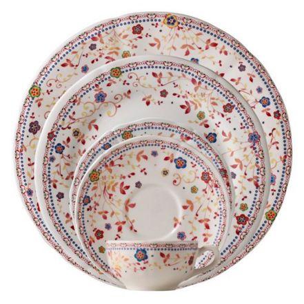 Gorgeous floral plates