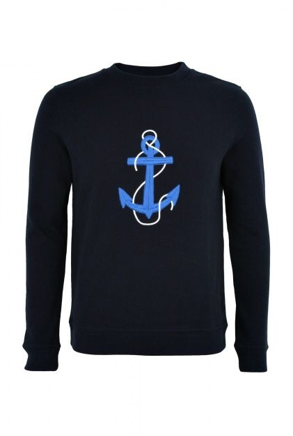 APC | Navy Anchor Sweater by APC ($200-500) - Svpply
