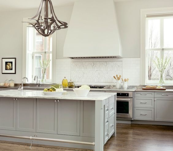 Grey Painted Kitchen Cabinets: Porter Paints, Gray Cabinets And Gray Kitchens On Pinterest