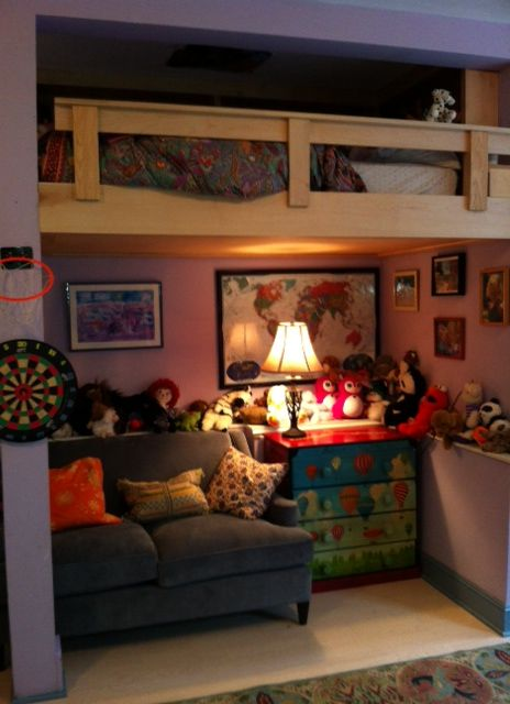 loft bed with reading nook | loftbed