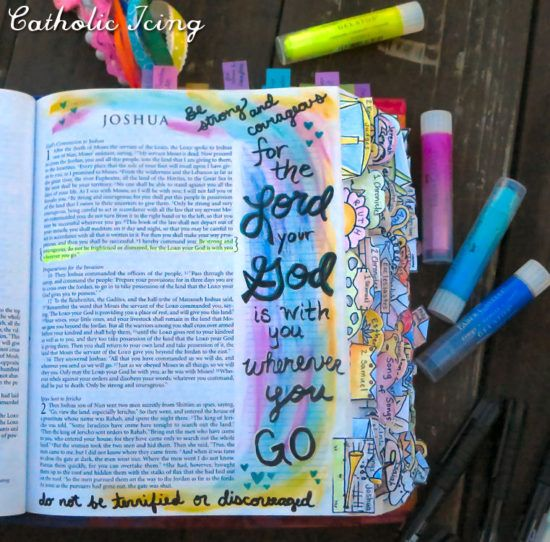 bible journaling- be strong and courageous joshua