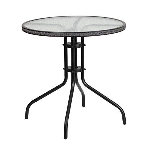 Bowery Hill 29 Bistro Table Outdoor Glass Dining Table Glass