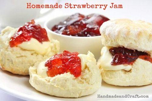 Homemade Strawberry Jam Recipe...It's so easy! :)  Yum!