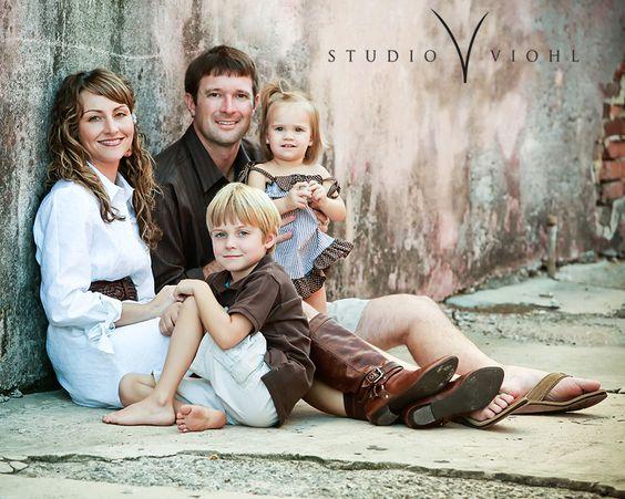 Cute family pose.