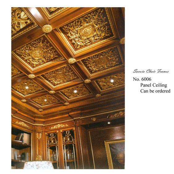 Guilded boiserie ceiling