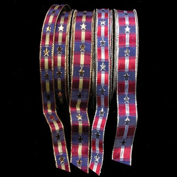Wired Woven USA  Ribbon