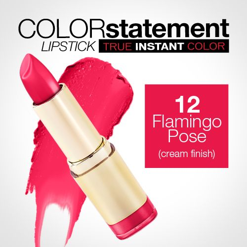 Milani Color Statement Lipstick 12 Flamingo Pose (Cream) LOVE this Lipstick and this color is amazing! Have it and it smells so good too!