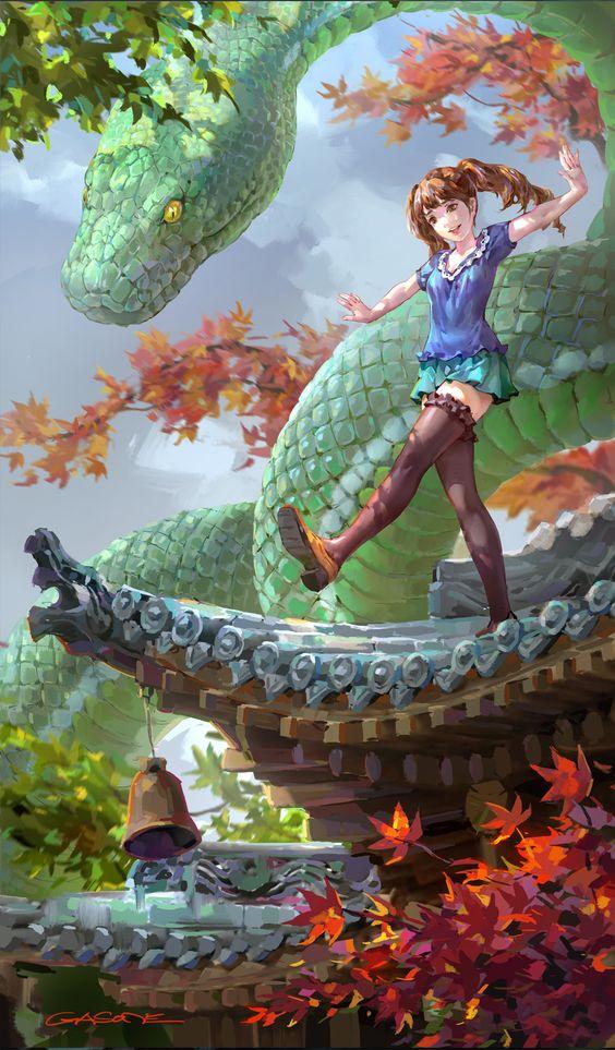 ArtStation - Green snake, Shengyi Sun