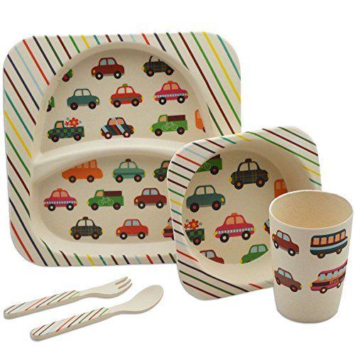 Tiny Dining Children S 5 Piece Bamboo Dinner Set Kids P Https Www Amazon Co Uk Dp B01mqtgrnx Ref Cm Sw R Pi Awdb Kids Plates Dinner Sets Kids Tableware