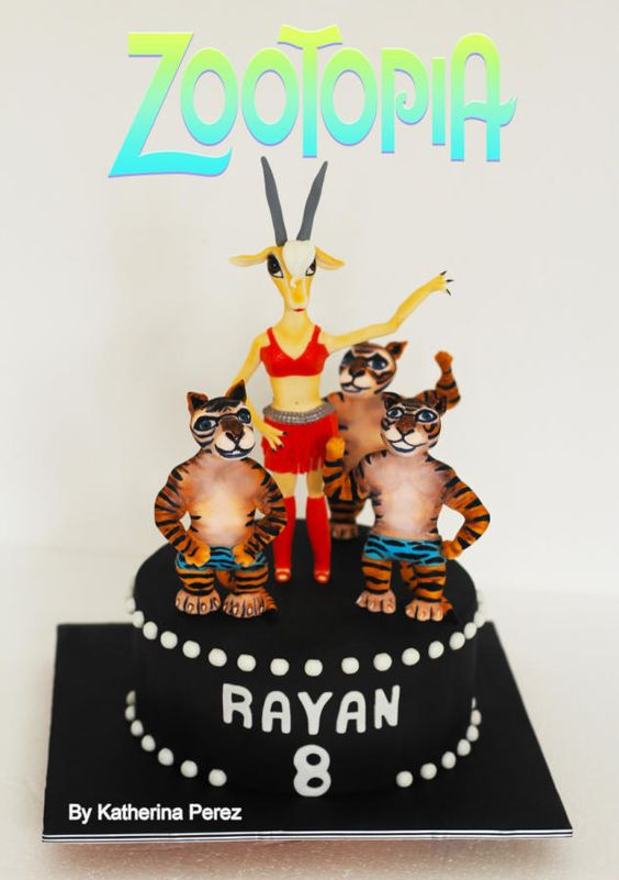 Gazelle - Zootopia cake - Cake by superfuncakes: