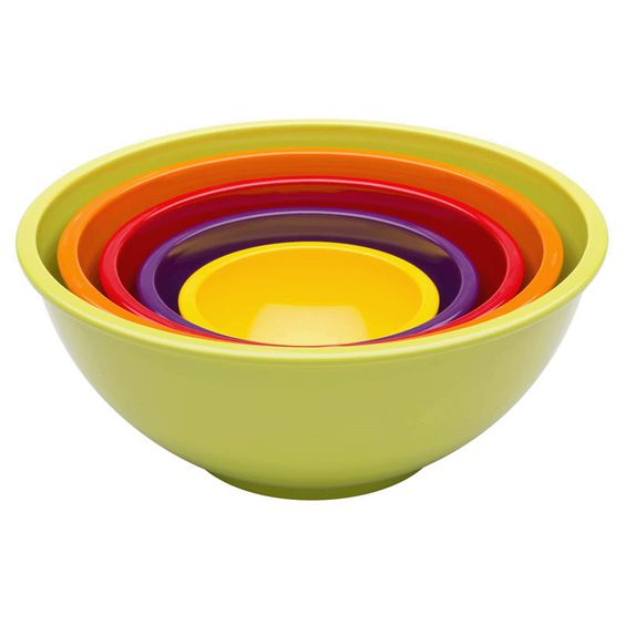 Set of Five Nested Mixing Bowls - Tittles & Bits