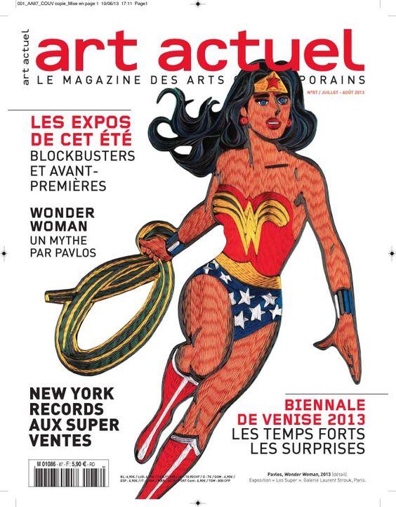 L'exposition les Super de pavlos fait la couverture du magazine Art Actuel
