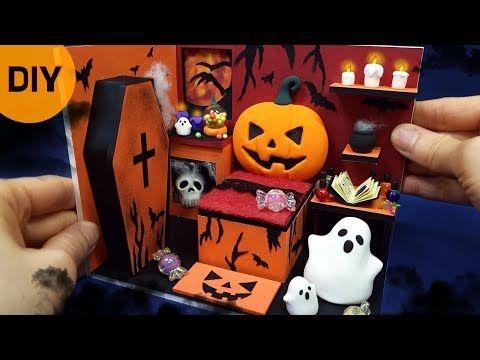 Halloween Bastelideen Youtube.Diy Miniature Dollhouse Halloween Room Decor Happy Halloween Youtube Dollhouse Halloween Halloween Room Decor Dollhouse Miniatures