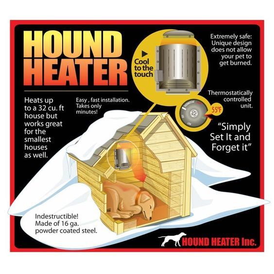 "Remember Keeping them warm is our Job!!!!  AKOMA Dog Products Hound Heater Dog House Furnace 110-volt 10"" x 10"" x 4.5"" - HHF-1"
