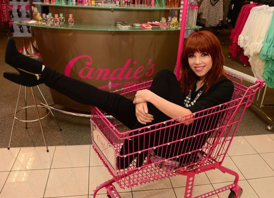 We'll take everything in the basket. Carly Rae Jepsen goes for a ride during her Candie's shopping spree on Sept. 9 in Jersey City, N.J.