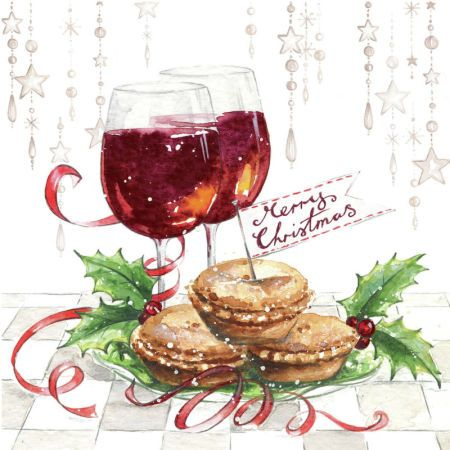 Di Brookes - DBr_Mulled_Wine_and_Mince_Pies_card: